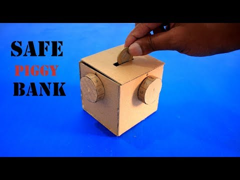 How to Make Safe Piggy Bank with Combination Lock DIY Safe Locker at Home