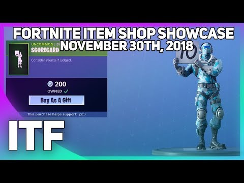 Fortnite Item Shop *NEW* SCORECARD EMOTE! (November 30th, 2018) (Fortnite Battle Royale) thumbnail