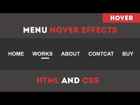 COOL MENU HOVER EFFECTS USING HTML AND CSS