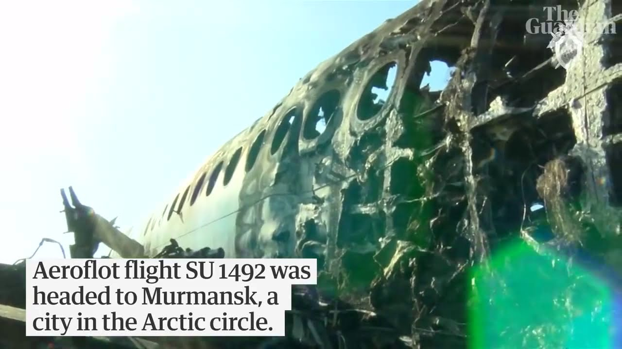 russian plane crash - russian plane fire: at least 40 dead in russian passenger plane crash