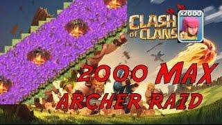 Clash Of Clans 2.000 archer vs th 11 max
