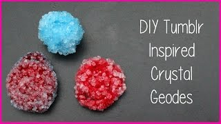 DIY Room Decor Tumblr Inspired Crystal Geodes | Alexa's DIY Life