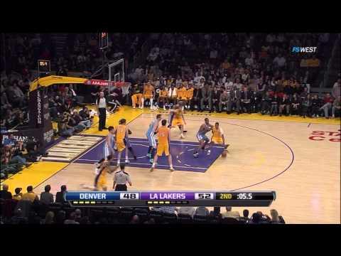 04 13 2012   Nuggets vs  Lakers   Matt Barnes Highlights