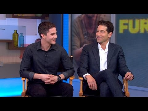 'Fury' Stars Lerman, Bernthal Discuss Working With David Ayer