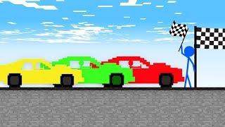 Stickman VS Minecraft: Car Race at School - AVM Shorts Animation