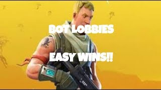 Cómo entrar en los lobbies BOT en Fortnite Temporada 9! (EASY WINS)
