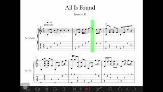 Download lagu [ Frozen 2 ]all is found -guitar fingerstyle tab