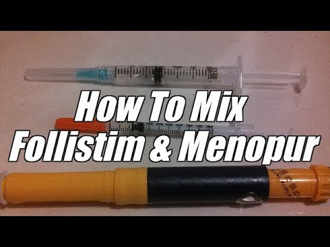 How to mix Follistim and Menopur