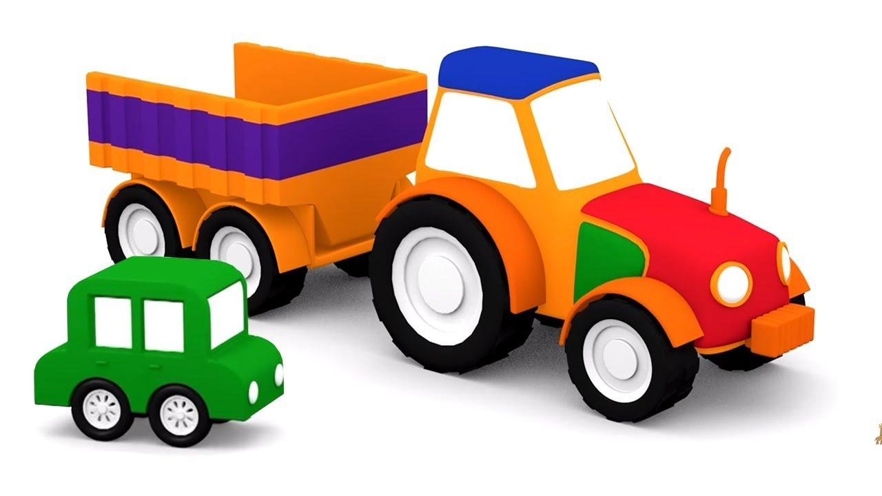 Bien-aimé Apprendre couleurs avec les 4 voitures colorées: construction du  UC34