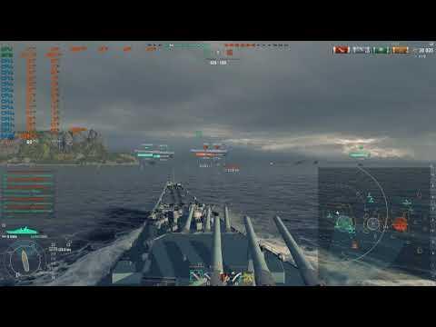 World of Warships USS Iowa Gamplay, 4K Ultra Graphics, i7 8700K + RTX 2070 with RTSS FPS Regulator