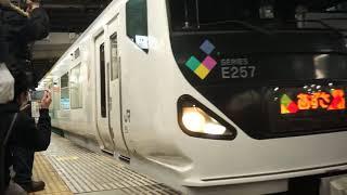 [2019.3.15] MHあり E257系 特急あずさ 回送 千葉駅発車