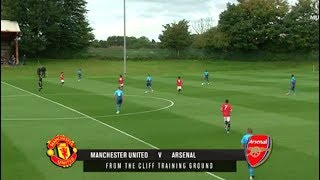 Manchester United Under 18s vs Arsenal Under 18s - U18 Premier League - ALL GOALS HIGHLIGHTS