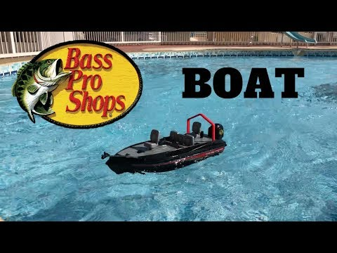Unboxing The Bass Pro Shops Rc Fishing Boat Tracker Youtube