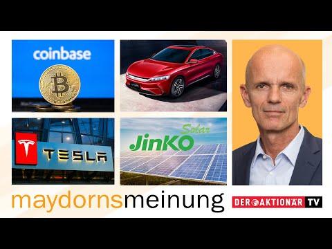 Maydorn: Tesla, Coinbase, Square, BYD, Xinyi Solar, JinkoSol