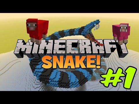YILANLAMAK!! | Minecraft (Mini Games) Snake #1