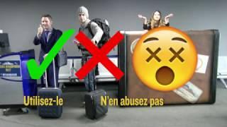 Ryanair: Deux bagages gratuits.