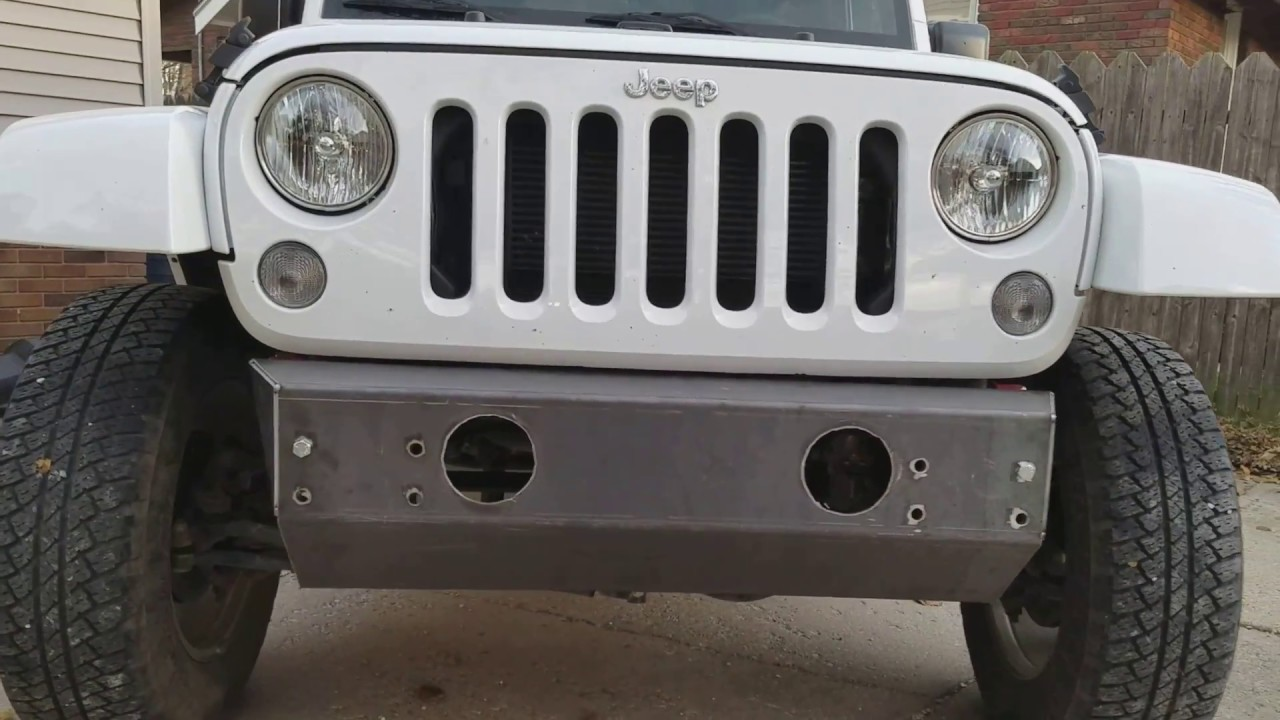 jeep wrangler jk project mock up of custom stubby bumper build in progress youtube. Black Bedroom Furniture Sets. Home Design Ideas