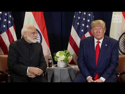 WATCH: Trump meets with India's Modi at UN General Assembly