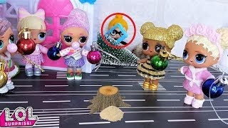 GIFTS WILL NOT BE! CHRISTMAS tree STOLEN (DOLLS LOL SURPRISE cartoons new series