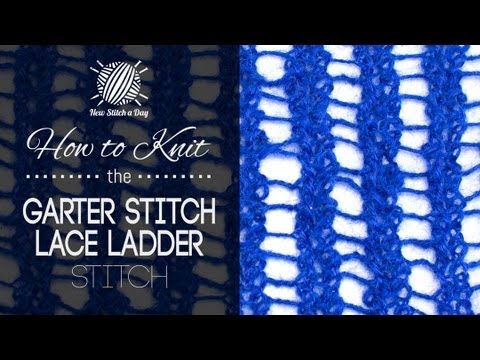 Knitting Garter Stitch Left Handed : How to Knit the Garter Stitch Lace Ladders Stitch (Left Handed) - YouTube