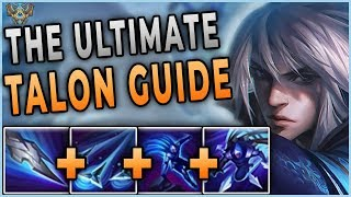 The ULTIMATE Season 9 TALON Guide | Yamikaze | Challenger Talon One Trick | Builds, Combos and Runes
