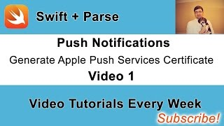 iOS Push Notifications: Generate Apple Push Services Certificate