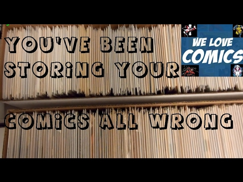 Comic book storage tips that even pros donu0027t do. & Comic book storage tips that even pros donu0027t do. - YouTube