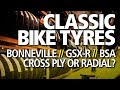 Classic Bike Tyres Explained   Cross Ply, Radial, Storage, Life & Pressures