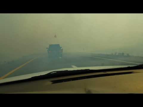 Elko Nevada fire on freeway