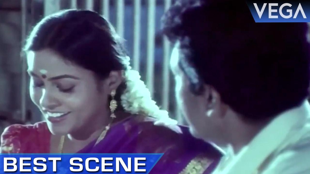 Saranya Ponvannan Meets Nizhalgal Ravi at Temple    Meendum Savithri Movie     Best Scene
