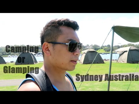 Camping or Glamping in Cockatoo Island Sydney Australia