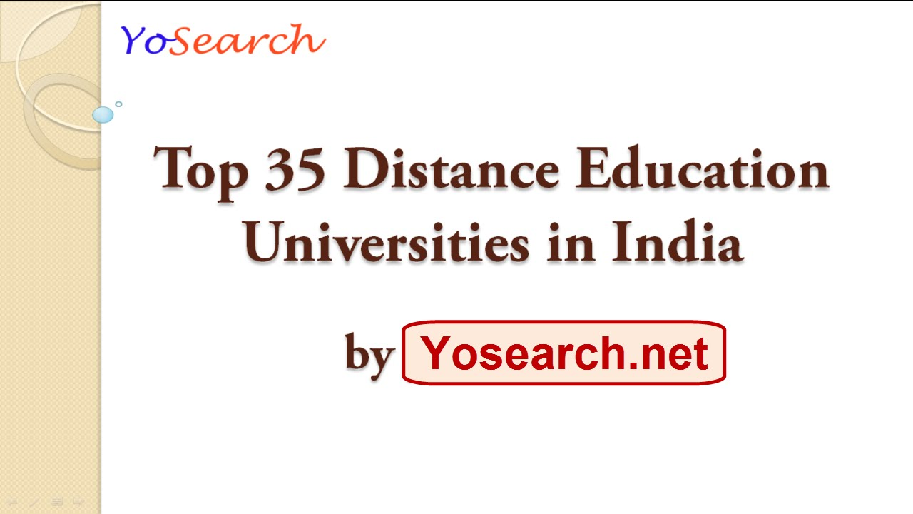 Best university for MCA through distance education?
