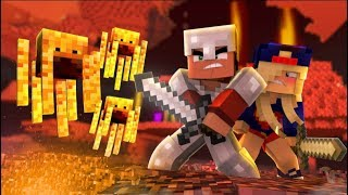 Minecraft Steve and Supergirl Rescue Alfred from the Nether! (minecraft Roleplay)
