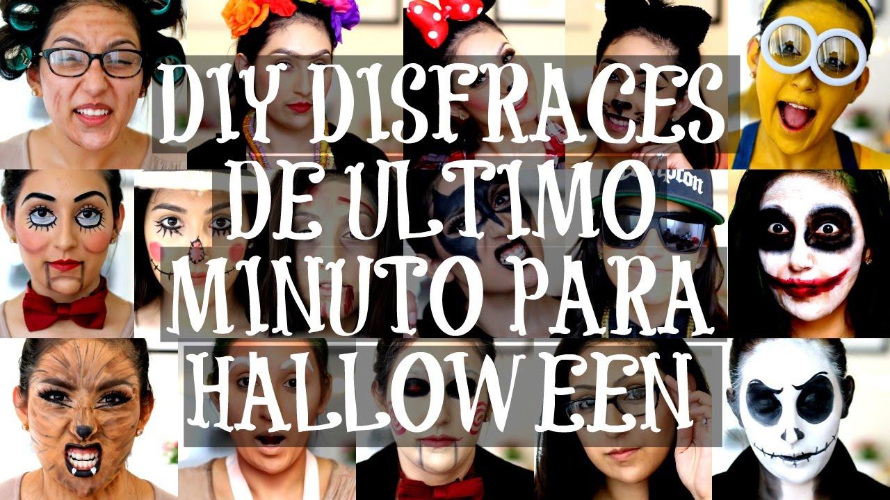 disfraces de halloween en 10 minutos