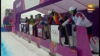 Caída Lucas Eguibar en la Semifinal Snowboard Cross Sochi 2014 - Teledeporte