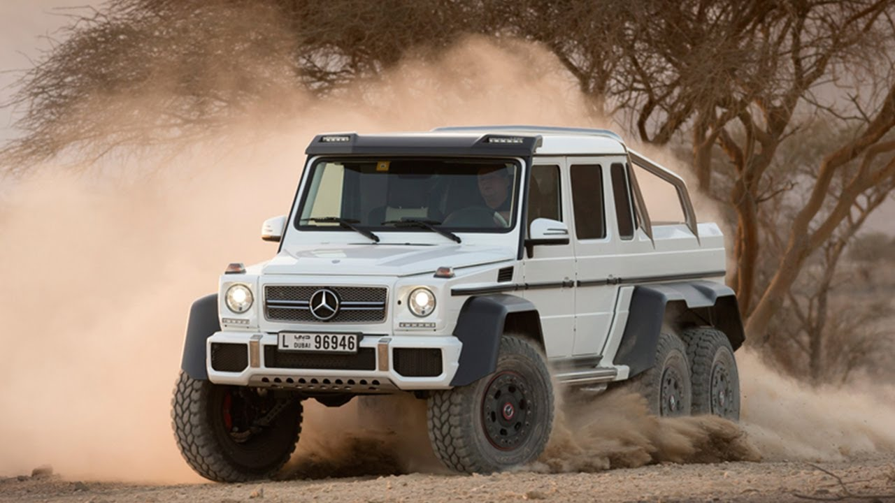 the largest and most extreme road legal suv - mercedes g-class