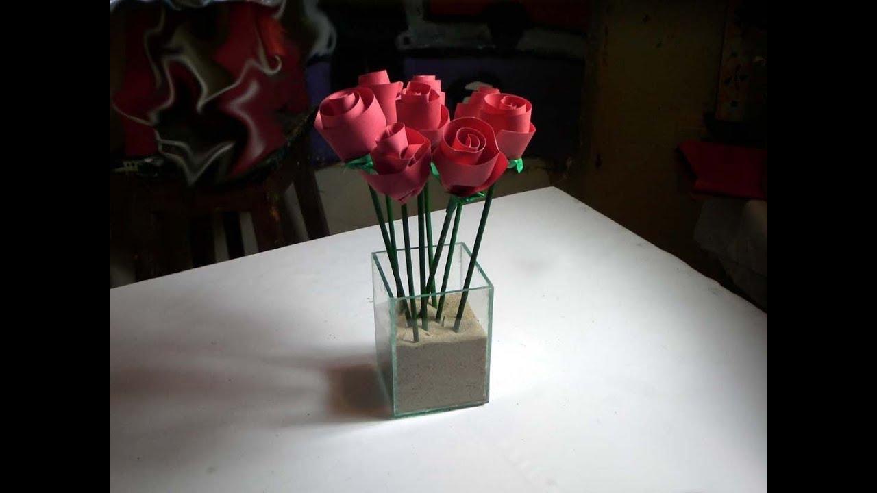 Armario Farmaceutico ~ Artesanato Rosas de papel YouTube