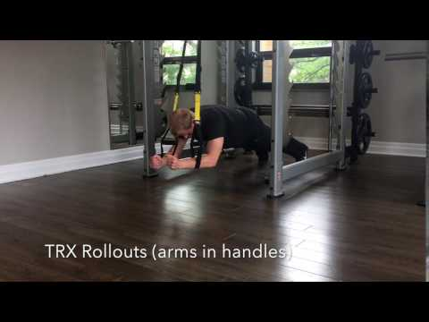 TRX Rollouts (arms in handles)