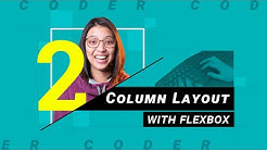 How to build a 2-column layout using flexbox | HTML/CSS