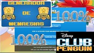 Generador de membresias Club Penguin %100