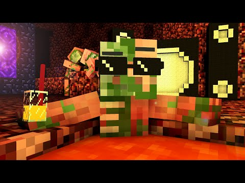 Zombie Pigman Life - Craftronix Minecraft Animation
