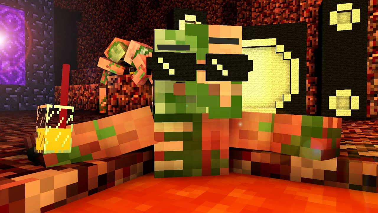 Zombie Pigman Life - Craftronix Minecraft Animation - YouTube