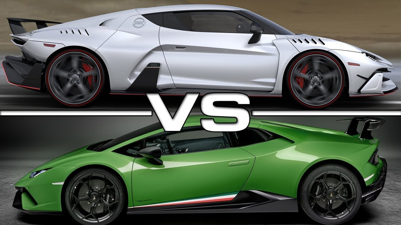 Italdesign Zerouno vs Lamborghini Huracan Performante