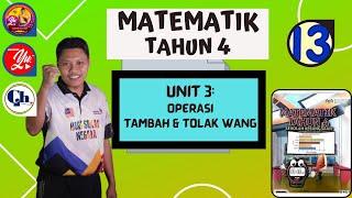Jom Belajar Matematik Bhgn 13 OPERASI TAMBAH DAN TOLAK WANG