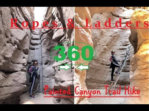 360* views of Painted Canyon Trail - Must watch!! Best hiking adventure. 4K
