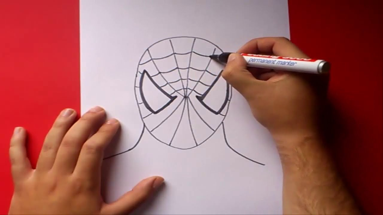 Como dibujar a Spiderman paso a paso  How to draw Spiderman  YouTube