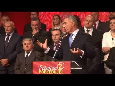 Konvencija Petnjica - Predsjendik DPS-a Milo Djukanovic