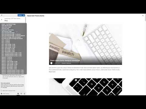 Blog page customising with ExS WordPress theme