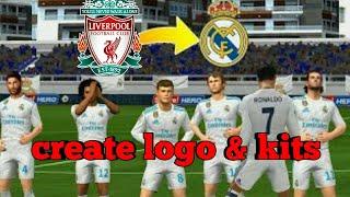 Dream League Soccer 2018 - How To Create Real Madrid New Kits & Logo 2018/19