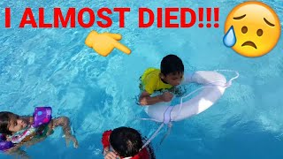 Kid Almost Drowned In The Pool Caught On Camera.